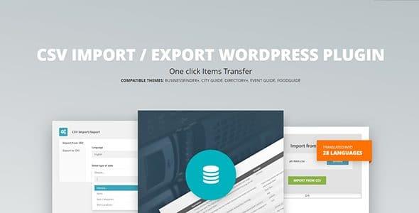 CSV Import Export WordPress Plugin