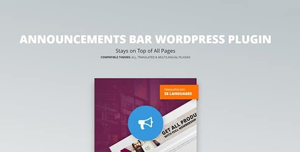 Announcements Bar WordPress Plugin