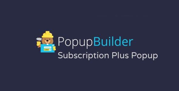 Popup Builder Subscription Plus