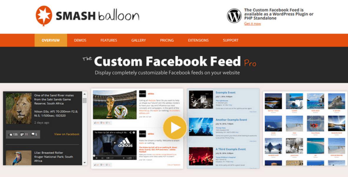 Custom Facebook Feed Pro – Extensions