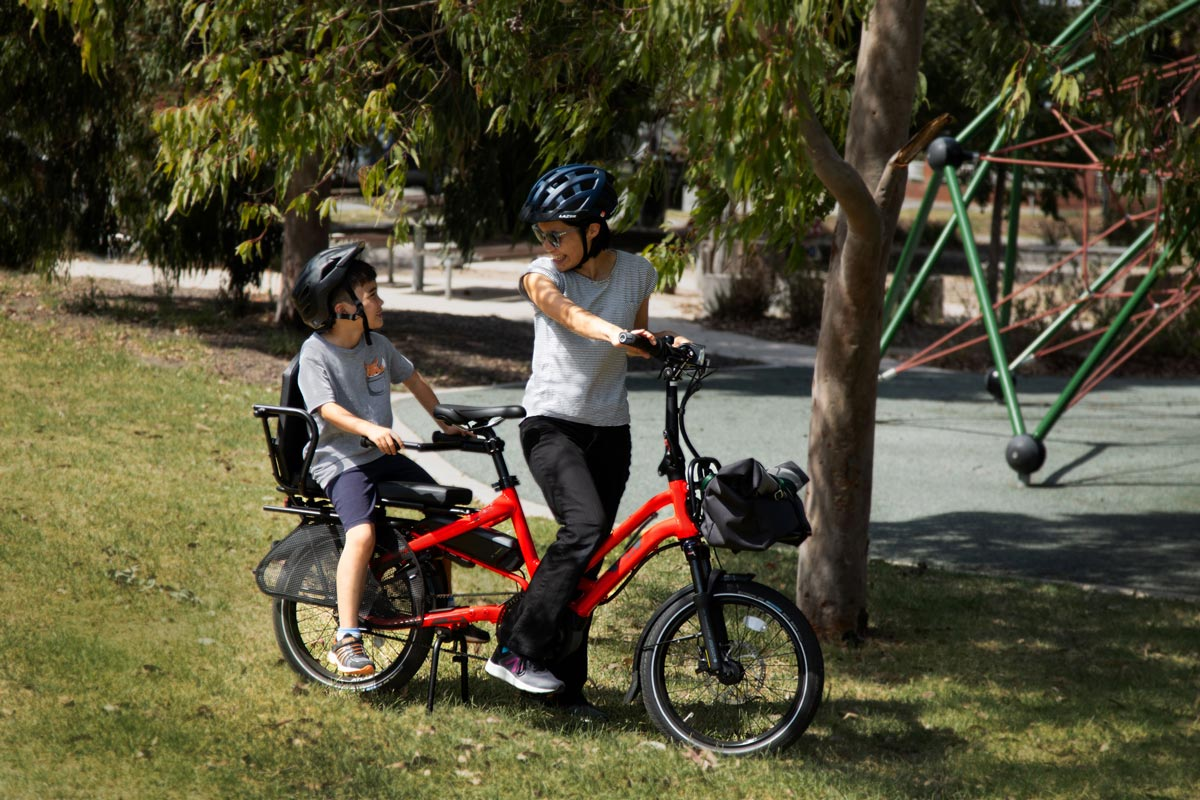 Mother and son park, with HSD
