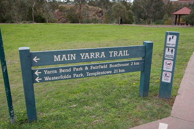 Sign along the Main Yarra Trail