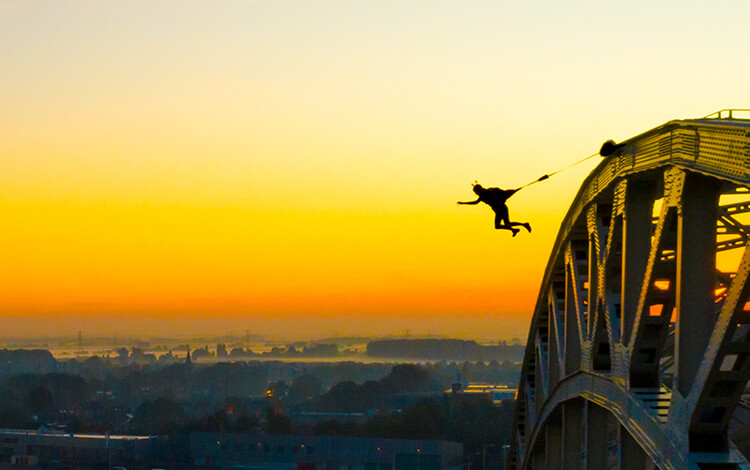 Jumping from a bridge