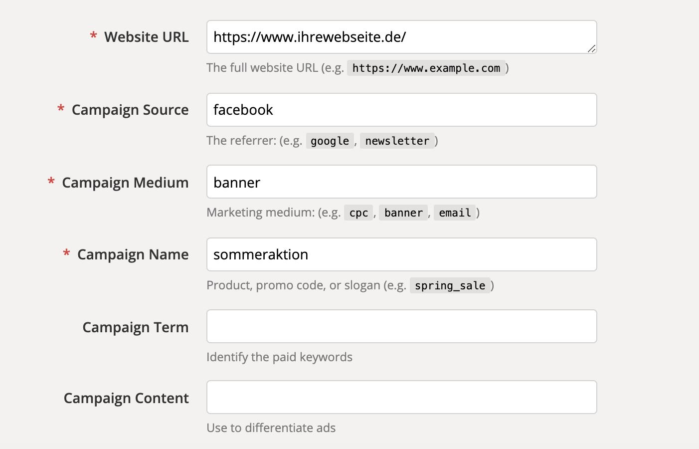 UTM Parameter Link erstellen