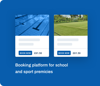 Booking platform for school and sport premicies