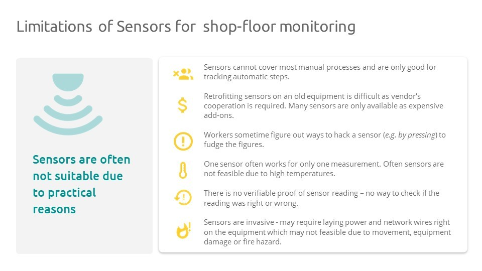 Sensors do not solve the supervision of manual processes