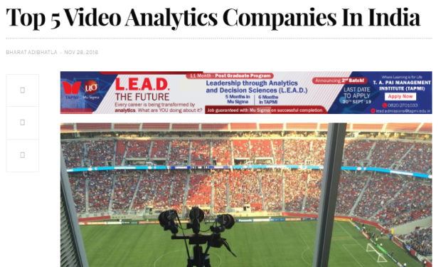 top 5 video analytics companies in India