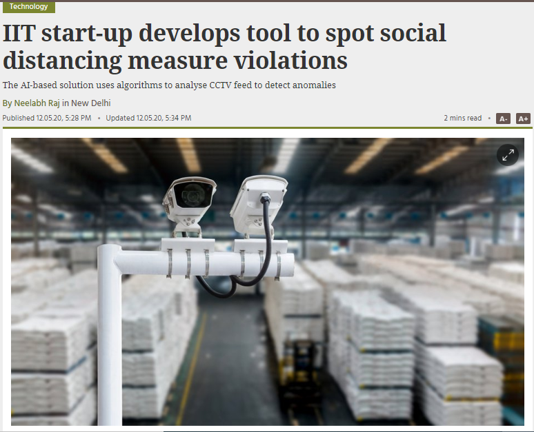 Sparrosense develops tool to spot social distancing measure violations