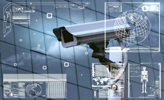 CCTV camera showing different analytics