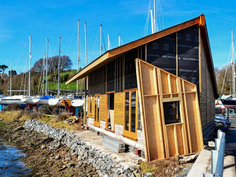 The Crab Shed Salcombe being built at the Fish Quay