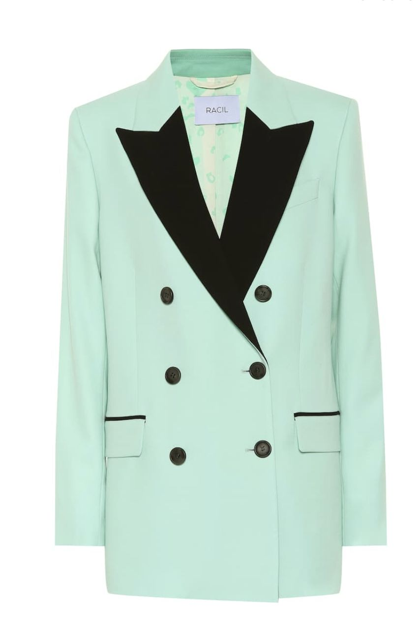 MINT GREEN DOUBLE BREASTED JACKET