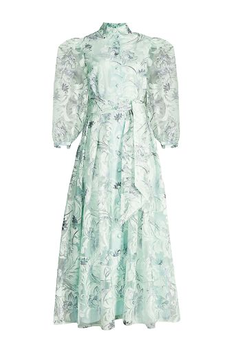 MINT GREEN FLORAL MIDI DRESS