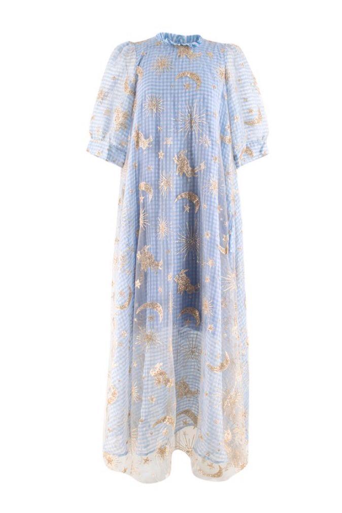 BLUE GINGHAM MAXI DRESS