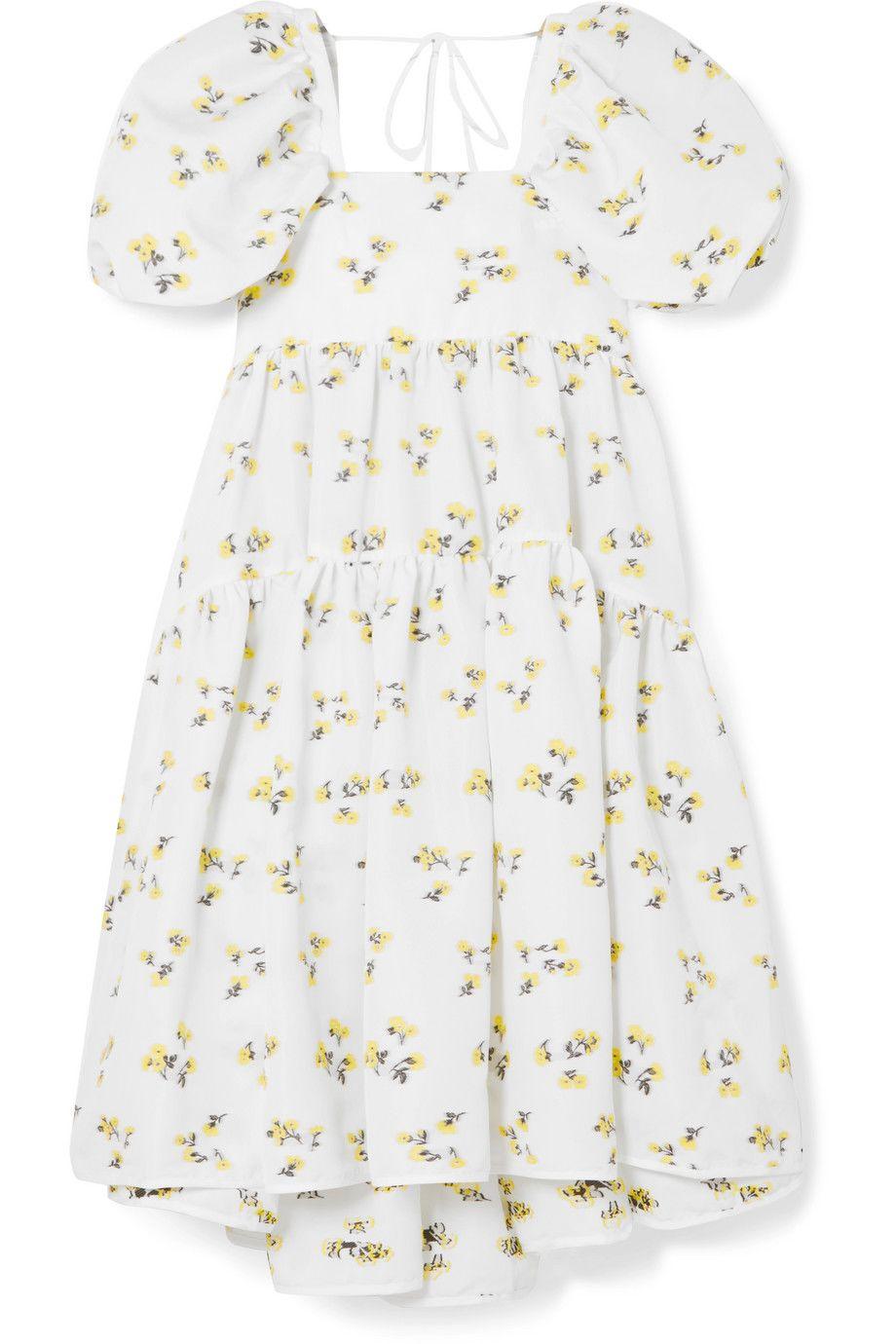 FLORAL PRINT WHITE MINI DRESS