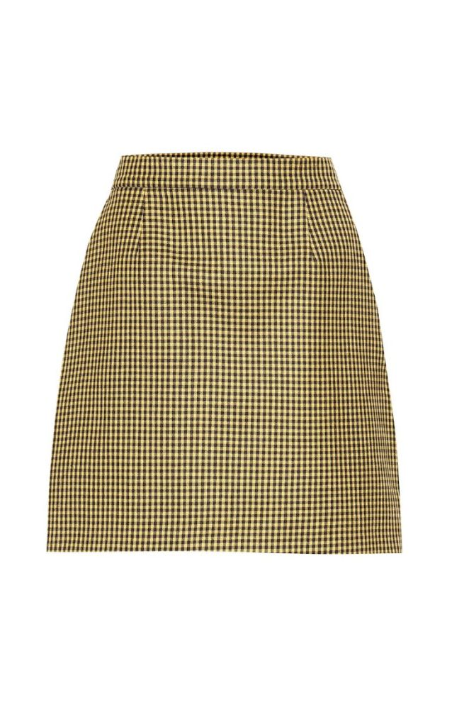 GINGHAM YELLOW SKIRT