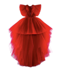 RED TULLE DOWN