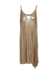 GOLD CHAI MAIL DRESS