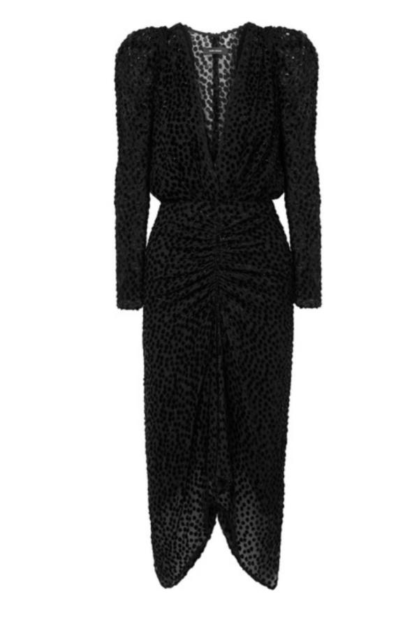 BLACK SPARKLE MIDI DRESS