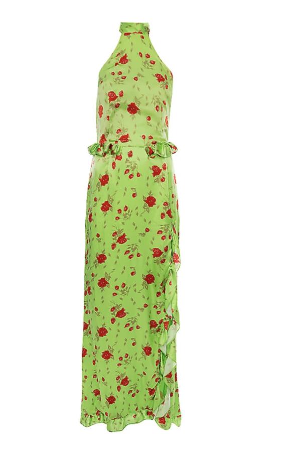 MISSIPPI GREEN ROSE MAXI DRESS