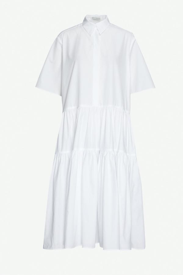 WHITE SHIRT TIER-ED DRESS