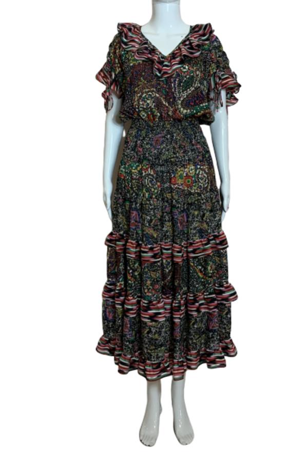 MULTI COLOUR PRINT DRESS