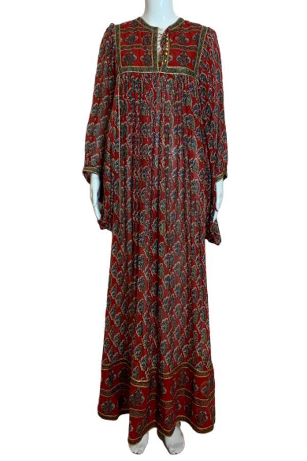 RED PEASANT DRESS