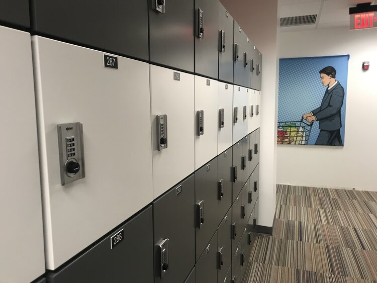 Duo-tone steel door lockers with combination locks.jpg