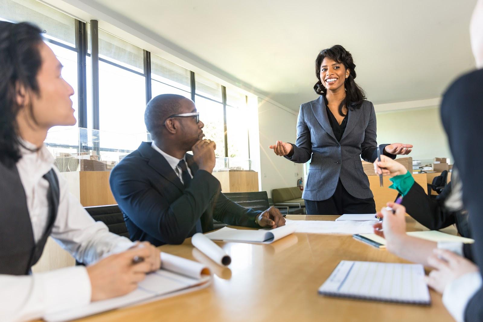 Employee retention strategies: CEO speaks to her team
