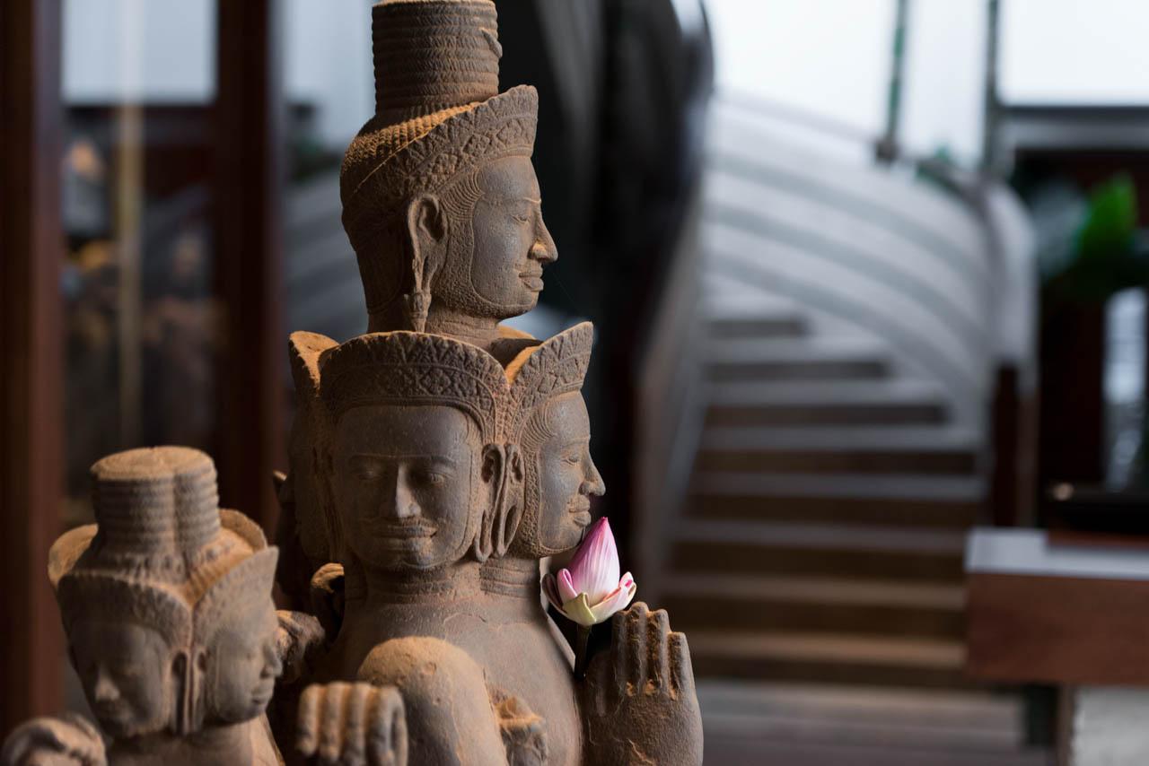 Jaya House Khmer Buddhist  Statue