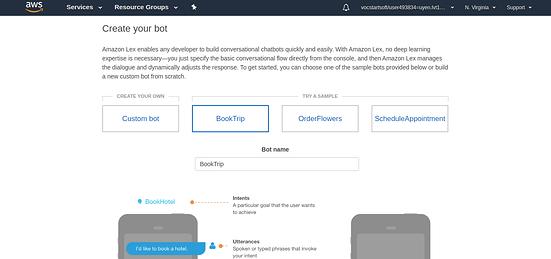 Tạo chatbot thông qua Amazon Lex