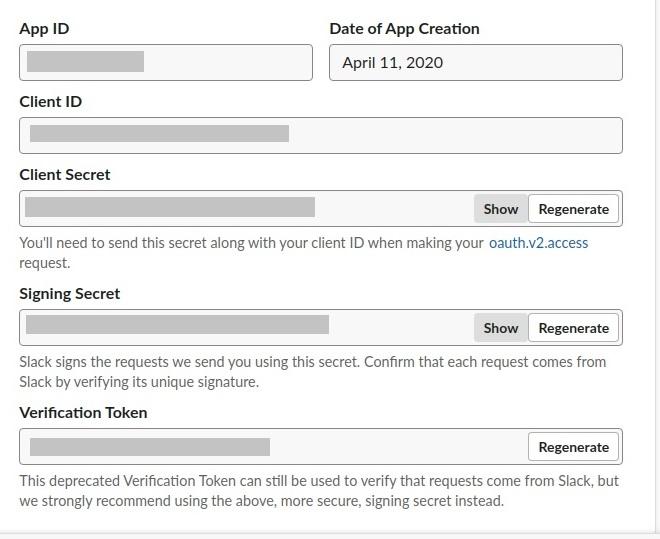 Tạo một application trong slack