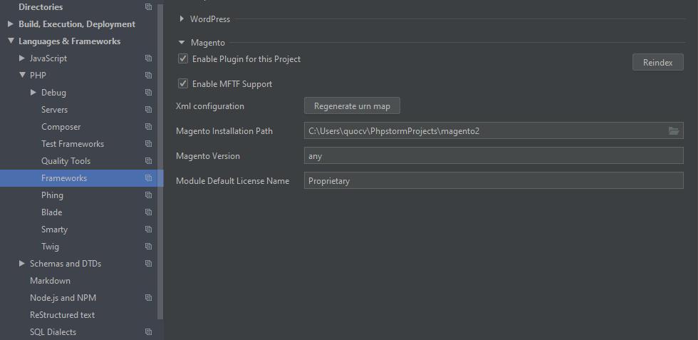 Cài đặt Magento PHP Storm Plugin