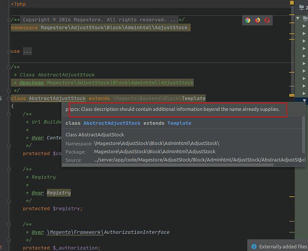 Báo lỗi với PHPCS