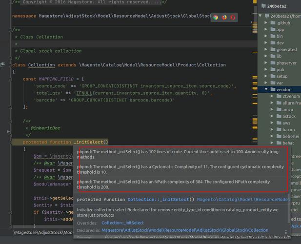 Báo lỗi với PHPMD