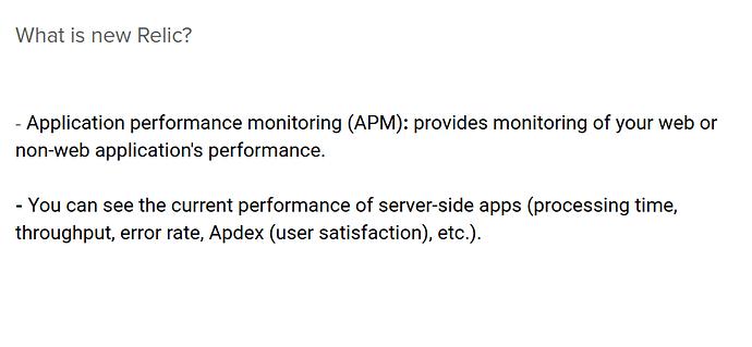 Sử dụng tool New Relic để tracking performance trên live site
