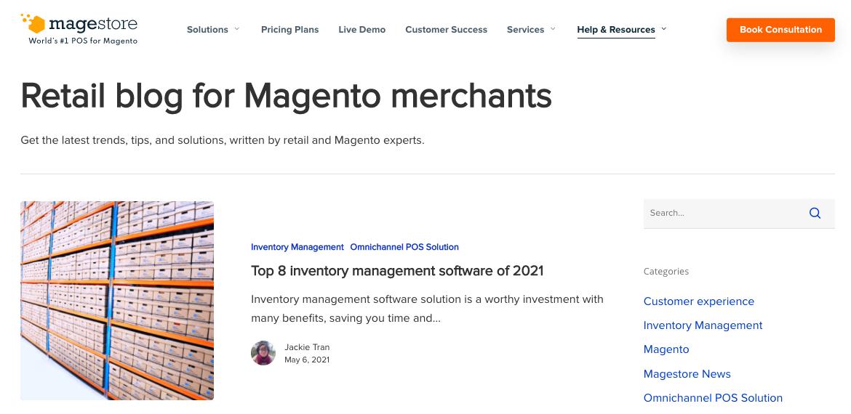 Blog chia sẻ kiến thức về bán lẻ của Magestore