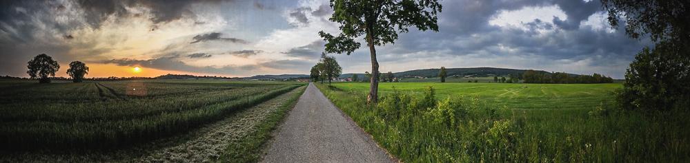 Landschaft rund um die alte Schäferei in den Haßbergen