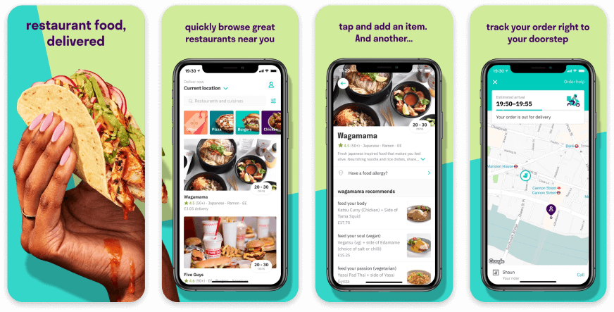 Deliveroo App Store Screenshot Examples