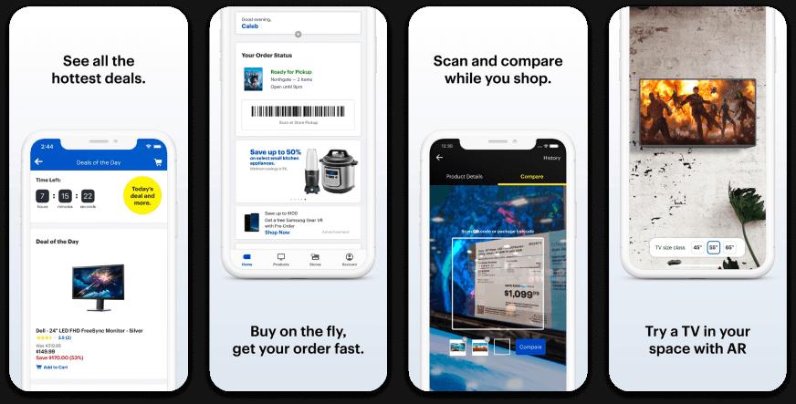 Best Buy App Store Screenshots