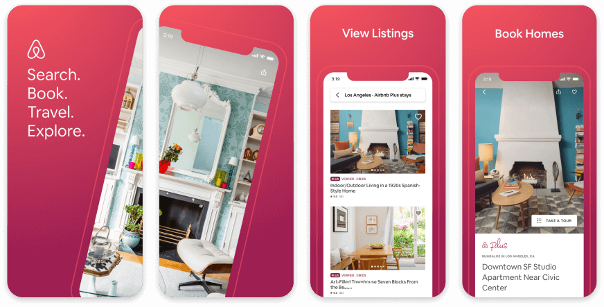 Airbnb App Store Screenshots 2020