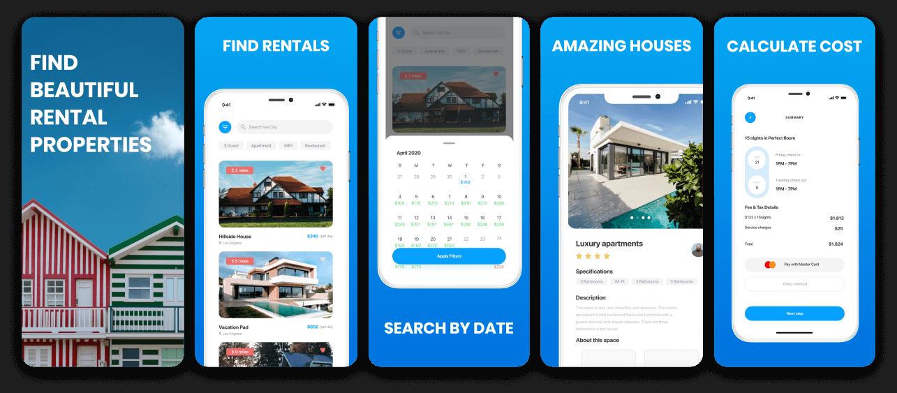 Rental Property App Screenshot Template