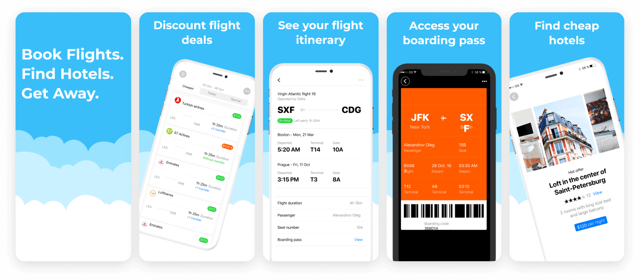 Travel App Screenshot Template