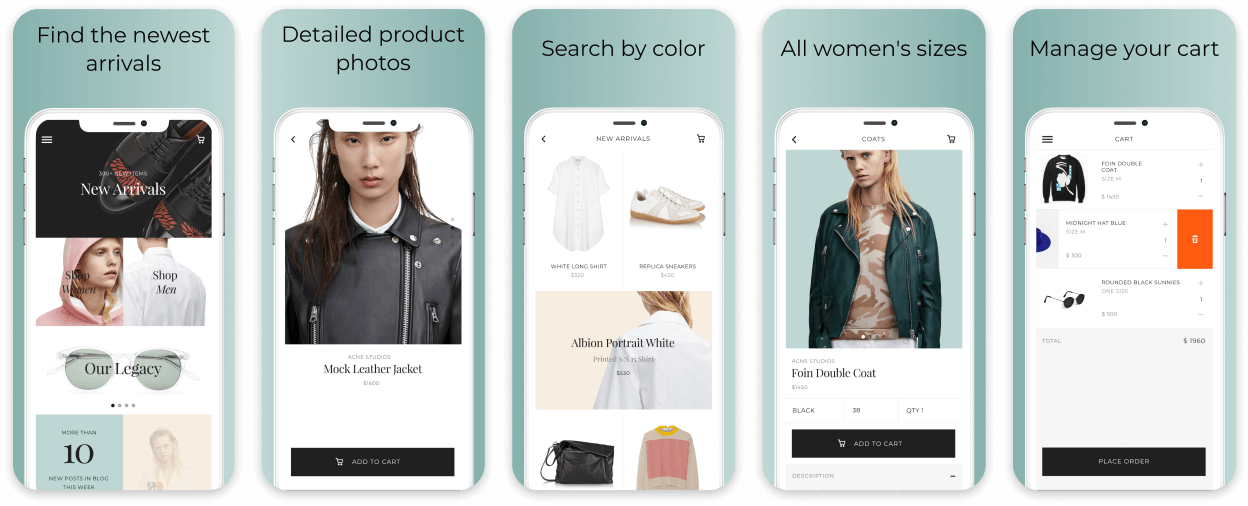 Clothing Ecommerce App Screenshot Template
