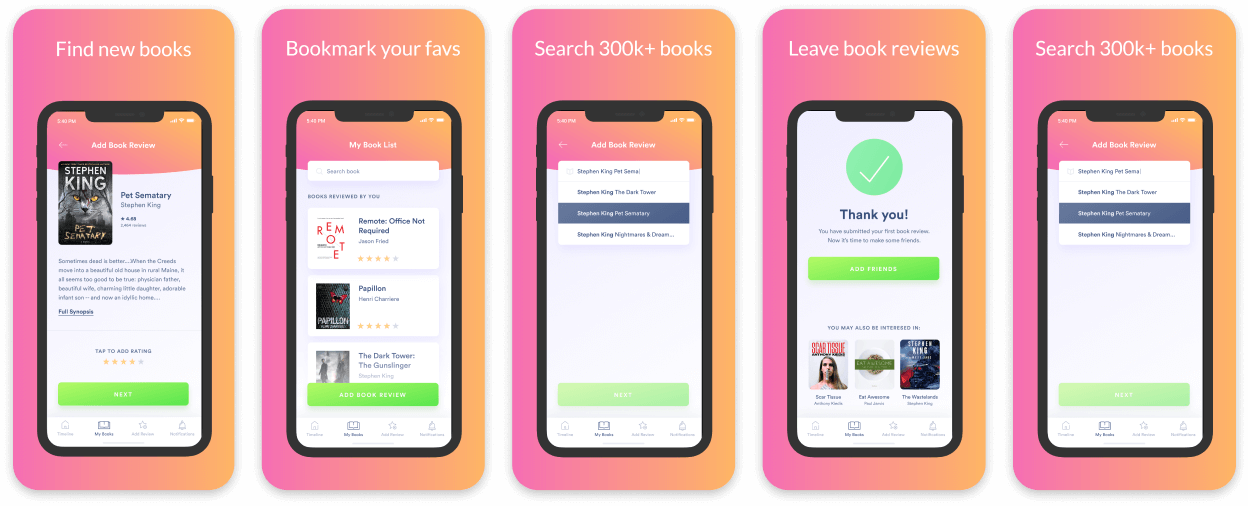 Book Club App Screenshot Template