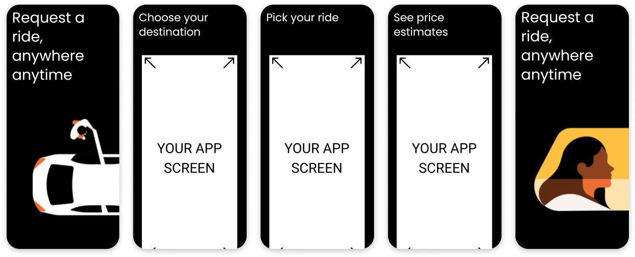Uber App Screenshot Template