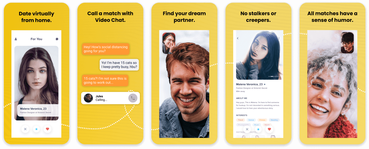 Bumble Dating App Screenshot Template