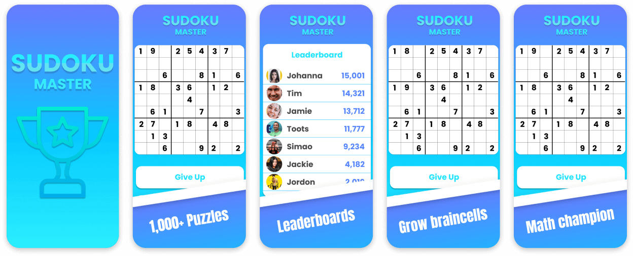 Sudoku Puzzle App Screenshot Template
