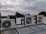 Montáž klimatizace výrobní hala-systém venkovních jednotek na střeše