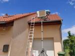 Montáž klimatizace RD-venkovní jednotka na střeše