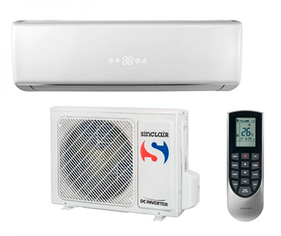 AKční klimatizace-SINCLAIR ASH-09BIR, 16513Kč bez DPH, včetně montáže